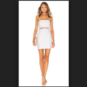 Candy Grommet Strapless Mini Dress in White